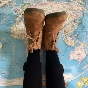Land's End suede wedge boots